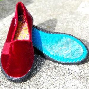 Blowfish Shanghai Slip-On skimmer shoes sz 10 red